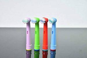 Hofoo- Têtes de brosse à dents de remplacement pour enfants pour enfants Braun Oral-B Stages Power Lot de têtes de brosse des enfants de têtes de brosses EB10 (4pcs) hasard couleur de la marque hofoo image 0 produit