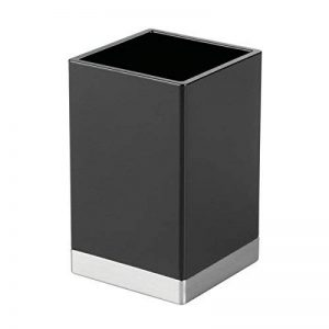 InterDesign Clarity verre à dents, gobelet salle de bain en plastique, noir / argenté mat de la marque InterDesign image 0 produit