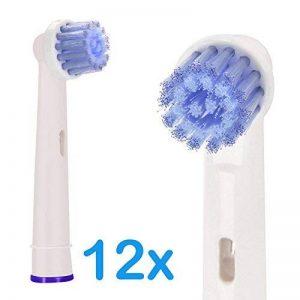 IWOTOU Brossettes de Rechange pour Oral-B, têtes de brosse à dents souples compatible avec Oral B, lot de 12, brossette sensitive clean de la marque IWOTOU image 0 produit
