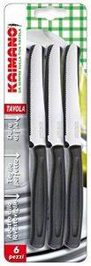 Kaimano KDN041506N Dinamik - Lot de 6Couteaux de Table à Dents, Manche Noir de la marque Kaimano image 0 produit