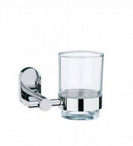Kela 22675 porte-verre à dent mural, acier inoxydable brillant et verre, 'Lucido' de la marque kela image 0 produit