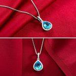 L'AIMER Bijoux d'océan collier simple de Madame pendentif d'eau mignon, argent 925 de la marque L'AIER image 2 produit