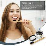 Lavish Essentials - La meilleure poudre de charbon de bois naturelle blanchie aux dents naturelle en vrac (50g) + Brosse à dents en bambou GRATUITE + Bénéfices GRATUITS du paquet économique de charbon de bois activé | Poudre de charbon de bois de noix de image 1 produit