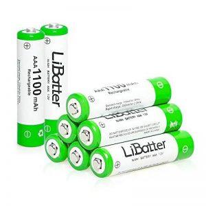 LiBatter (8packs) AAA 1100mAh Ni-MH Batteries Rechargeables Batteries Rechargeables Cycle 500-1000 de la marque LiBatter image 0 produit