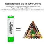 LiBatter (8packs) AAA 1100mAh Ni-MH Batteries Rechargeables Batteries Rechargeables Cycle 500-1000 de la marque LiBatter image 2 produit