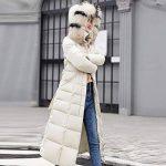Longue Manteau Femme,Veste à Capuchon Coton-Doudounes Manteaux de Poche Fourrure Artificielle Bringbring de la marque BringBring_Tops image 1 produit