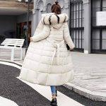 Longue Manteau Femme,Veste à Capuchon Coton-Doudounes Manteaux de Poche Fourrure Artificielle Bringbring de la marque BringBring_Tops image 3 produit