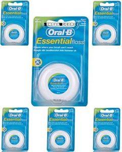 Lot de 6 boîtes de fil dentaire Oral-B Essential ciré goût menthe 50m de la marque Oral-B image 0 produit
