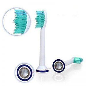 Lot de 8(4mm) hofoo® de Têtes de rechange pour brosse à dents électrique Philips Sonicare ProResults Brosse à dents (hx-6014). Entièrement compatible avec les modèles suivants: Brosse Philips DiamondClean/FlexCare Platinum/FlexCare, FlexCare (+), Healt image 0 produit