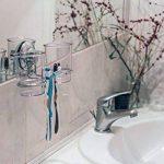MaxHold système de vide Porte-brosses à 2 dents - adhérer, pas de perçage - acier inoxydable - pour salle de bains et cuisine de la marque MaxHold image 1 produit