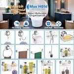 MaxHold système de vide Porte-brosses à 2 dents - adhérer, pas de perçage - acier inoxydable - pour salle de bains et cuisine de la marque MaxHold image 4 produit