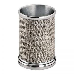 mDesign gobelet à dents en acier affiné – gobelet pour brosses à dents – verre brosse à dents utilisable pour des produits cosmétiques comme des pinceaux et l'eye-liner de la marque MetroDecor image 0 produit