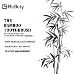 MitButy Brosse à dents en bambou [Pack de 8] Poils souples et brosses à dents en bois numérotées individuellement | 100% naturelles, végétaliennes, biodégradables, recyclables et sans plastique de la marque MitButy image 4 produit