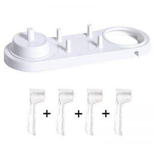 Nincha support pour tête Brosse à dents électrique avec support de brosse à dents électrique + 4 pcs Têtes de brosse à dents Coque pour Oral-B de la marque Nincha image 0 produit