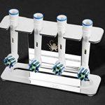 OCTOPODIS - Porte têtes de Brosse à Dents electriques en Acier Inoxydable, Compatible Oralb Braun, Waterpik, Fairywill Fixation Via adhesif ou Pose Libre de la marque OCTOPODIS image 4 produit