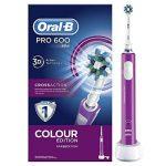 Oral B Braun Pro 600 Brosses À Dents Électriques Cross Action Color Edition de la marque Oral-B image 4 produit