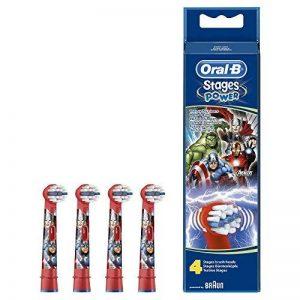 Oral-B Brossettes de Rechange pour Enfant avec Marvel Avengers x4 de la marque Oral-B image 0 produit