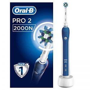 Oral-B PRO22000N CrossAction Brosse à Dents Électrique Rechargeable par Braun, 1Manche, 2Modes dont Douceur, 1Brossette de la marque Oral-B image 0 produit