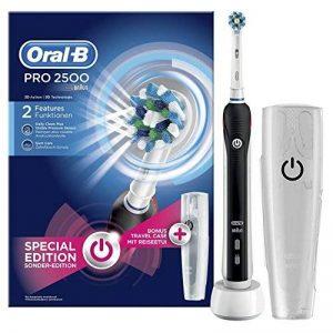Oral-B Pro 2500 CrossAction - Brosse à dents électrique rechargeable - Bonus Pack avec Etui de voyage de la marque Oral-B image 0 produit