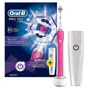 Oral-B Pro 750Pink–Brosse à dents électrique avec étui de voyage, couleur rose de la marque Oral-B image 0 produit
