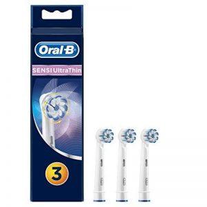 Oral-B Sensi Ultrathin Brossettes de Rechange pour Brosse à Dents Électrique Rechargeable Lot de3 - Nettoyage Supérieur et Protection des Gencives de la marque Oral-B image 0 produit