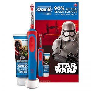 Oral B Star Wars–brosse électrique, rechargeable et pâtes de Dents Oral B, Couleur Bleu et Rouge de la marque Oral-B image 0 produit