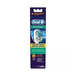 Oral-B Vitality Dual Clean Pack de 4 Brossettes de Rechange pour Brosse à Dents Électrique de la marque Oral-B image 0 produit