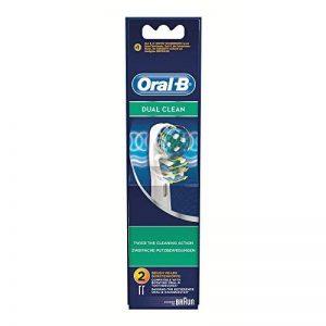 Oral-B Vitality Dual Clean - set de 2 Brossettes de Rechange pour Brosse à Dents Électrique de la marque Oral-B image 0 produit