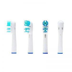 Oral-q 12 (3x 4) têtes de brosse de rechange pour brosses à dents Oral Q Dual Clean et brosses à dents électriques Braun Oral-B (SB-417A/EB-417A). Compatible avec les modèles suivants :TriZone, Advance Power, Professional Care, Triumph, Vitality et Smart image 0 produit