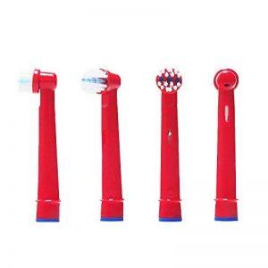 oral-q Brosse à dents électrique Heads de rechange pour Kids pour Braun Oral-B Stages Power Kids têtes de brosse Pack de brosses d'enfants de têtes EB10 - 8,8stk (2 x 4) hasard couleur de la marque Oral-Q image 0 produit