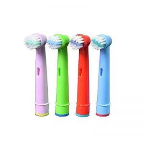 Oral-Q EB10A pour enfants avec têtes de brosse à dents électrique standard pour Braun Oral-B - - 4,12pcs (3packs) de la marque Oral-Q image 0 produit