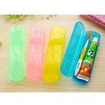 OUNONA Étui de voyage, boîte de rangement pour brosse à dents et dentifrice (Orange) de la marque OUNONA image 1 produit