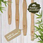 Pack de 4 brosses à dents en bambou biodégradable, poils souples infusés au charbon végétal, Ergonomique et Vegan. de la marque image 2 produit