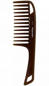 Peigne à cheveux peigné à l'huile d'essence naturelle par Majestik +, à large dent, brun, peigne déchirant (MPO-021) de la marque Majestik+ image 0 produit