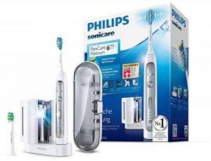 Philips Sonicare FlexCare Platinum hx9172/15Brosse à dents électrique avec Technologie Sonique, Blanc, avec Uv Appareil de nettoyage de la marque Philips image 0 produit