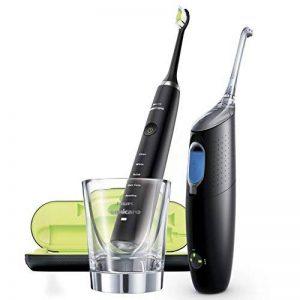 Philips Sonicare HX8491/03 Pack Airfloss Ultra + Brosse à dents électriques DiamondClean - Noir de la marque Philips image 0 produit