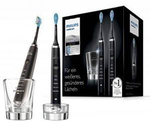 Philips Sonicare hx9357/87Diamond Clean nouvelle génération Brosse à dents sonique électrique avec chargement Verre, Lot de 2, noir de la marque Philips image 0 produit