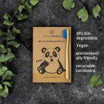 ♻ Planet Bamboo ♻ Brosse à dents en bambou dans un set de 4 pour enfants (bleu | Medium-Soft), manche étroit pour les mains d'enfants, brosse à dents naturelle dans emballage panda de la marque Planet Bamboo image 2 produit
