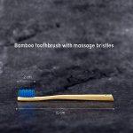 ♻ Planet Bamboo ♻ Brosse à dents en bambou dans un set de 4 pour enfants (bleu | Medium-Soft), manche étroit pour les mains d'enfants, brosse à dents naturelle dans emballage panda de la marque Planet Bamboo image 4 produit