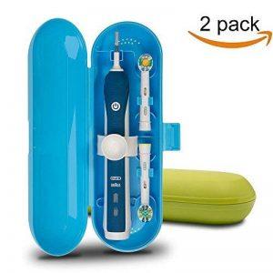 Plastique Trousse de voyage pour brosse à dents électrique Oral-B PRO Series, Lot de 2(Bleu et Vert) de la marque Medlife image 0 produit