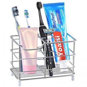 Porte Brosse à Dents, Yoassi Support de Brosse à Dents Polyvalent en Inox Anti-rouille pour Salle de Bain de la marque Yoassi image 0 produit