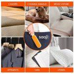 Saaji Brosse Poils Animaux - Set 2 brosses Anti Poils Chiens et Chats - Attrape et ramasse Poils et poussières sur vêtements canapé Textile Voiture de la marque image 4 produit