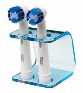 Seemii - Support tête Brosse à Dents électrique - Plastique, pour 2 ou 4 têtes, Bleu Transparent (2 têtes) de la marque Seemii image 0 produit
