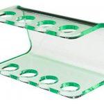 Seemii - Support tête Brosse à Dents électrique - Plastique, pour 2 ou 4 têtes, Vert Transparent (4 têtes) de la marque Seemii image 3 produit