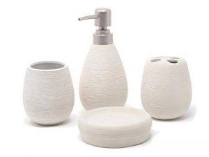 Set de bain 4pièces blanc de la marque Fiveto image 0 produit
