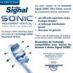 Signal Sonic Têtes de Rechange Brosse à Dents Electrique Ultra Clean de la marque Signal image 2 produit