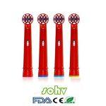 sohv® pour enfants avec têtes de brosse à dents électrique standard pour Braun Oral-B–– 4,12pcs (3packs) de la marque Sohv image 3 produit
