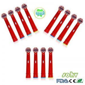 Sohv® Remplacement de têtes brossettes pour la Braun EB10-4 Oral-B Stages Power Kids,12 pcs (3-pack) de la marque Sohv image 0 produit