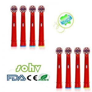 Sohv® Remplacement de têtes brossettes pour la Braun EB10-4 Oral-B Stages Power Kids,8pcs (2-pack) de la marque Sohv image 0 produit