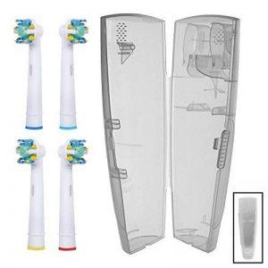 Spares2go Headsfor de brosse à dents Oral B Eb25-a électrique brosses à dents (lot de 4) + 1x étui de voyage pratique de la marque Spares2go image 0 produit